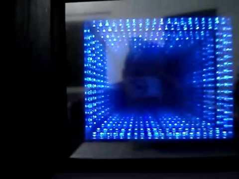 Espelho Infinito Feito Em Casa Infinity Mirror Home Made