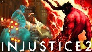 EPIC HELLBOY MASTERS INFINITE ARMOR Injustice 2 Hellboy Epic Gear Gameplay