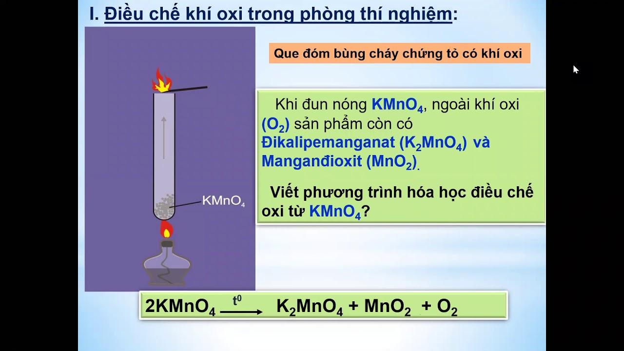 Học trực tuyến – Lớp 8 –  Hóa học – Điều chế khí Oxi – Nguyễn Thị Huế