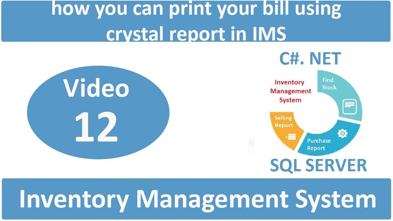 how you can print your bill using crystal report in IMS