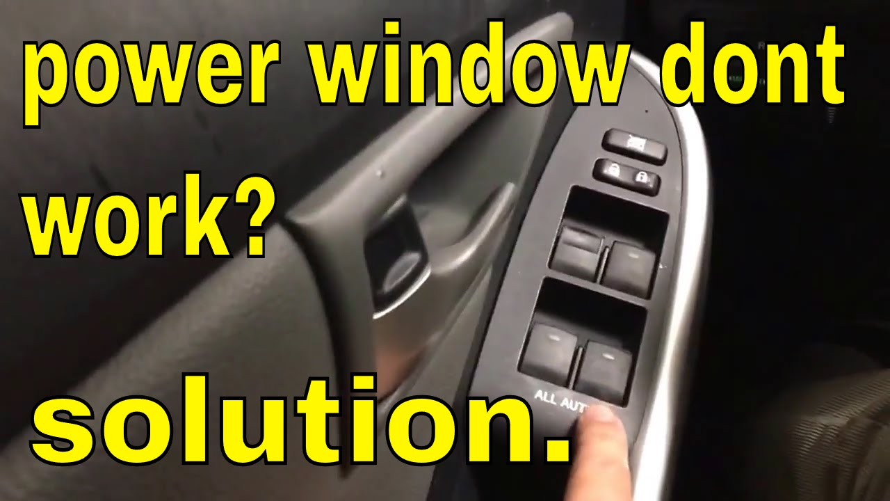 Power window dont work from main switch toyota lexus scion subaru  YouTube