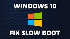 5 Ways to Fix Slow Boot Times in Windows 10