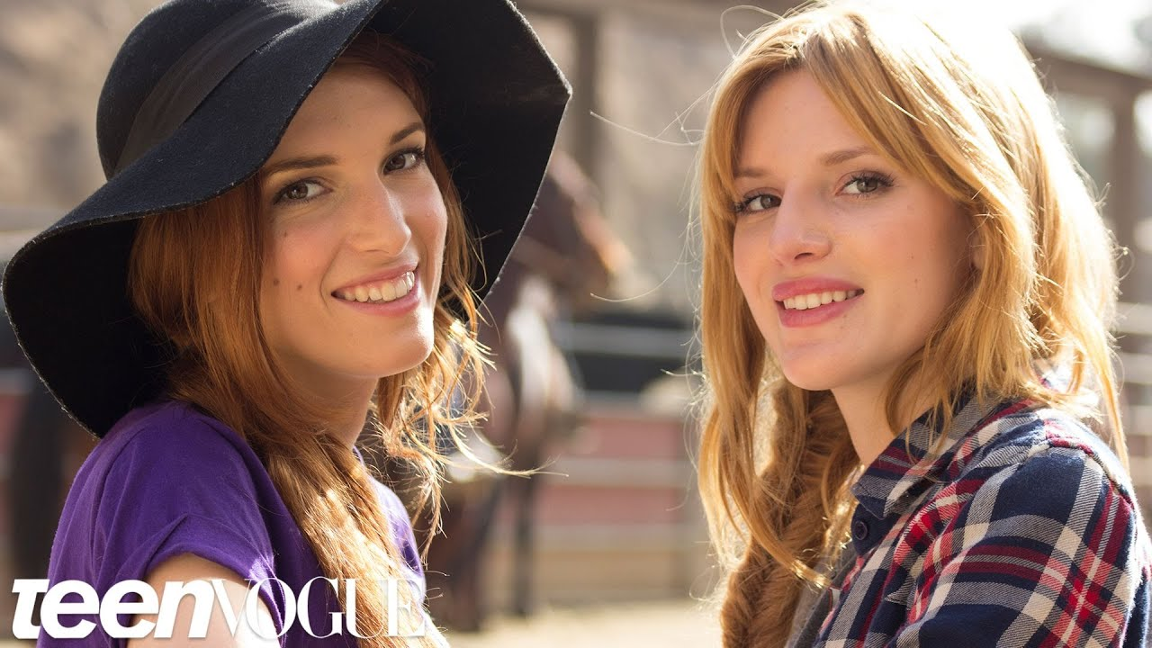 Horseback Riding With Bella Thorne And Her Sister Dani Besties Teen Vogue