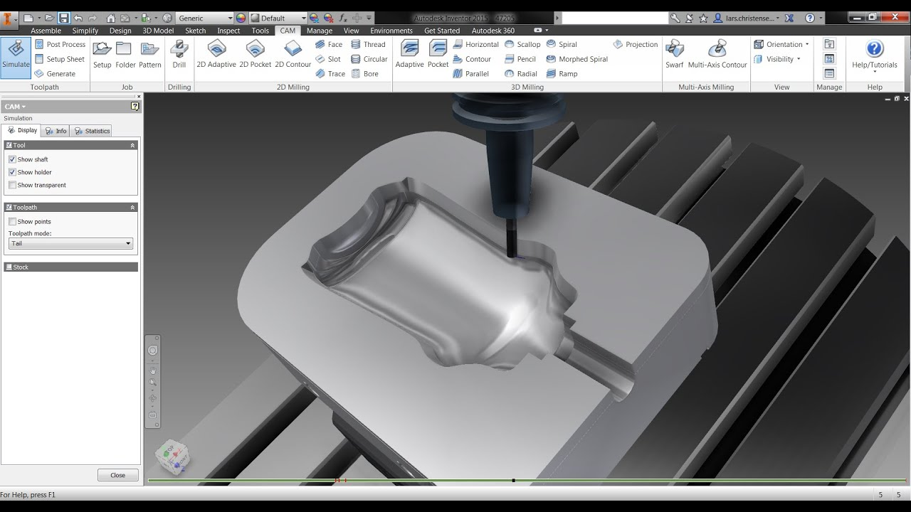 Inventor HSM PRO 2015 - YouTube