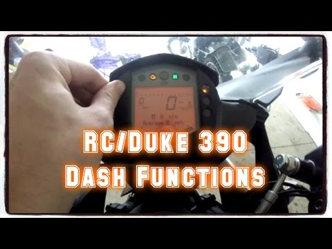 RC/Duke 390 Service Interval Reset - Shift Light Setup - Dash Tour