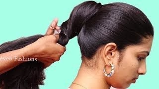 Beautiful hairstyles with party/wedding/College | hairstyles for long hair girls | hair style girl