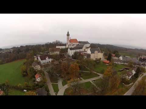 Kloster Andechs am Ammersee im Spätherbst - Bayern von oben - Multicopterflug
