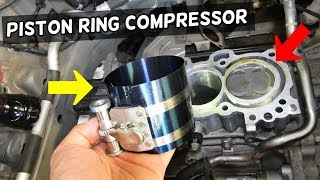 HOW TO COMPRESS PISTON RINGS. PISTON RING COMPRESSOR TOOL