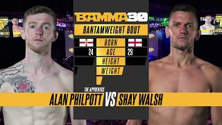 BAMMA 30: Alan Philpott vs Shay Walsh