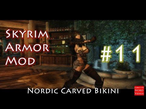 Skyrim | Armadura Nordic Carved Bikini para CBBE BodySlide Número 11  [Review]