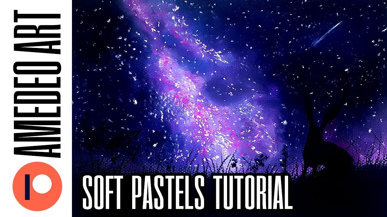 Drawing Night Sky With Soft Pastels Easy Tutorial For Beginners