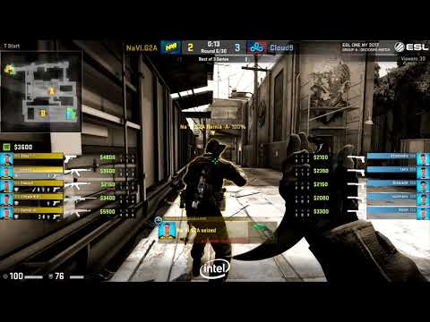 Cloud9 vs Na'Vi Bo3 Elimination - ESL One New York 2017 map 2