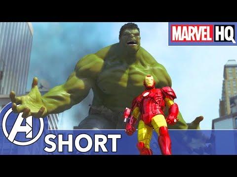 Hulk, Iron Man & Spidey Take on a Mech-Giant! | The Avengers vs. AIM - Part Two