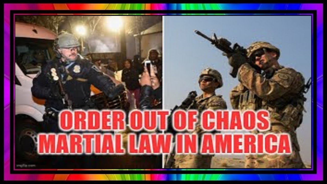Martial Law In America ~ Order Out Of Chaos Divide & Conquer 101.