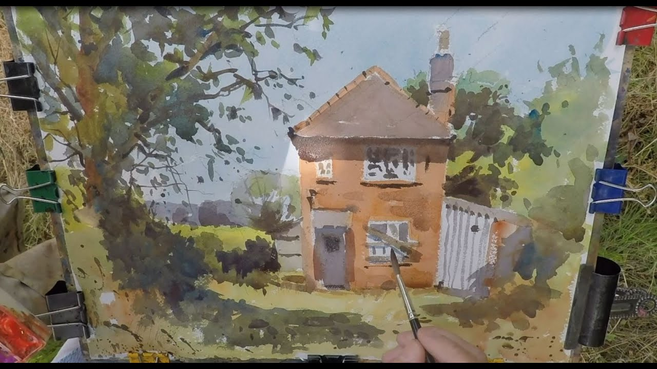 Part 1 Watercolour Demo How To Paint An Abandoned Cottage