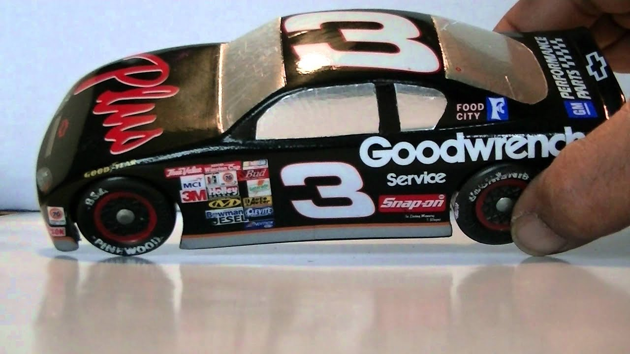 Dale Earnhardts Number Three Pinewood Derby Car Youtube