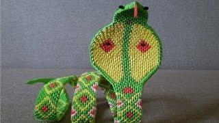 Змея  из модульного оригами-мастер класс,часть 1.