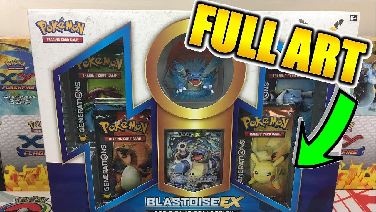 - HOLY FULL ART!!! Blastoise EX Red & Blue Collection Box Opening Of