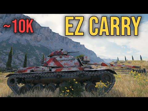 EZ CARRY M60 Patton ~10k dmg World of Tanks thumbnail