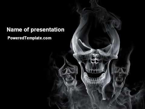 Smoke skulls powerpoint template by poweredtemplate youtube smoke skulls powerpoint template by poweredtemplate toneelgroepblik Images