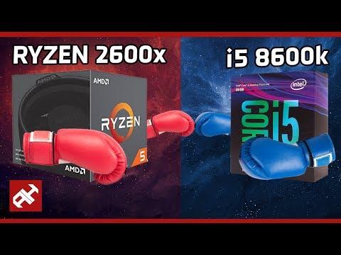 ليه التطبيل لرايزن AMD ؟! | Ryzen 2600X 🆚 i5 8600K