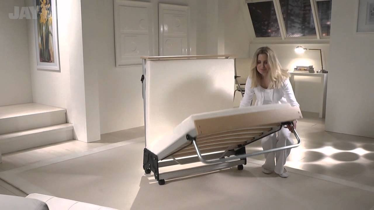 Full size rollaway bed with mattress - Jay Be J Bed Folding Bed With Aluminium Frame And Memory Foam Mattress Bed Centre Uk Youtube