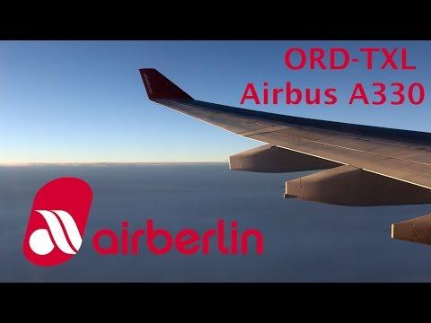 Air Berlin A330 flight Chicago - Berlin trip report