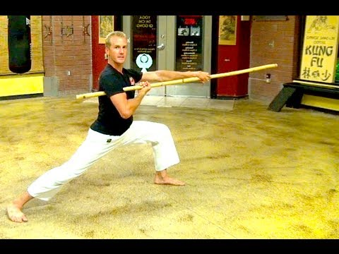 Bo Staff Skills of Kung Fu - YouTube