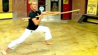 Bo Staff Skills of Kung Fu