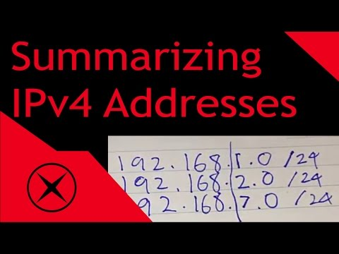 How To Summarize IPv4 Addresses