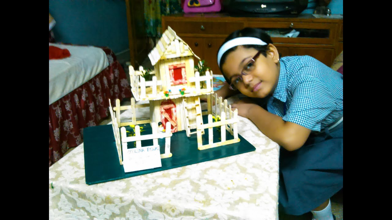 How to build ice cream stick house craft popsicle stick house youtube