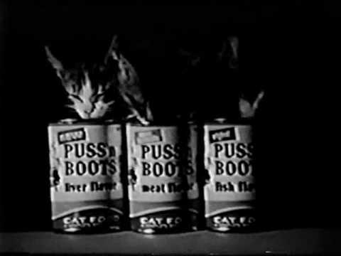 classic puss n boots cat food jingle commercial