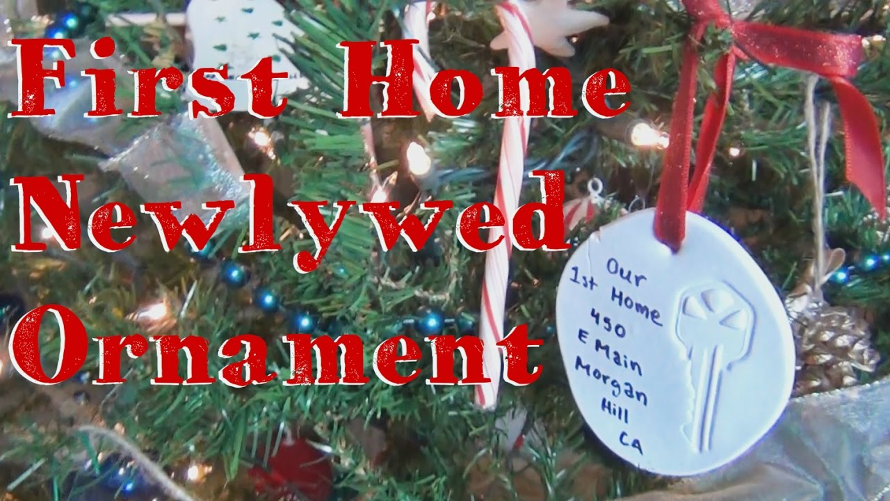 newlywed first home key ornament 12 diys of christmas