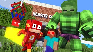 Monster School : BECAME A SUPERHERO Challenge - Epic Minecraft Animation