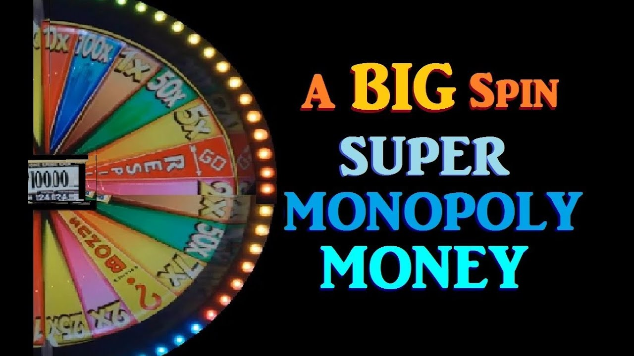 Slot Machine Big Wheel Spin Funny Super Monopoly Money