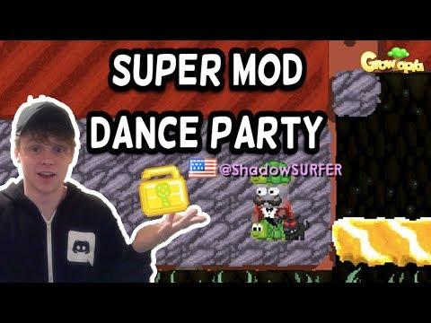 How A @Mod Enjoys SuperModDanceParty | Growtopia (2017)