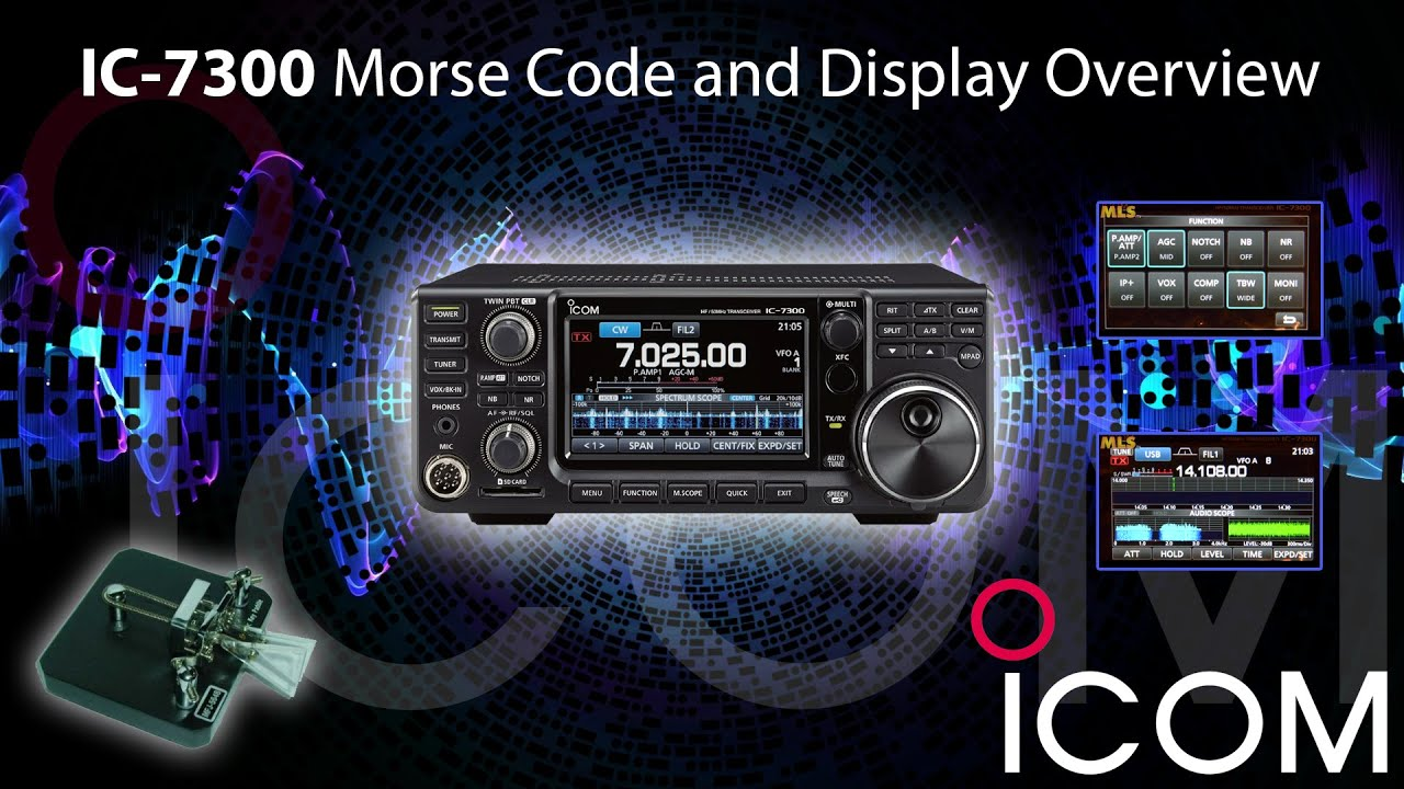 Icom Ic 7300 Morse Code And Display Overview With Ml Amp S