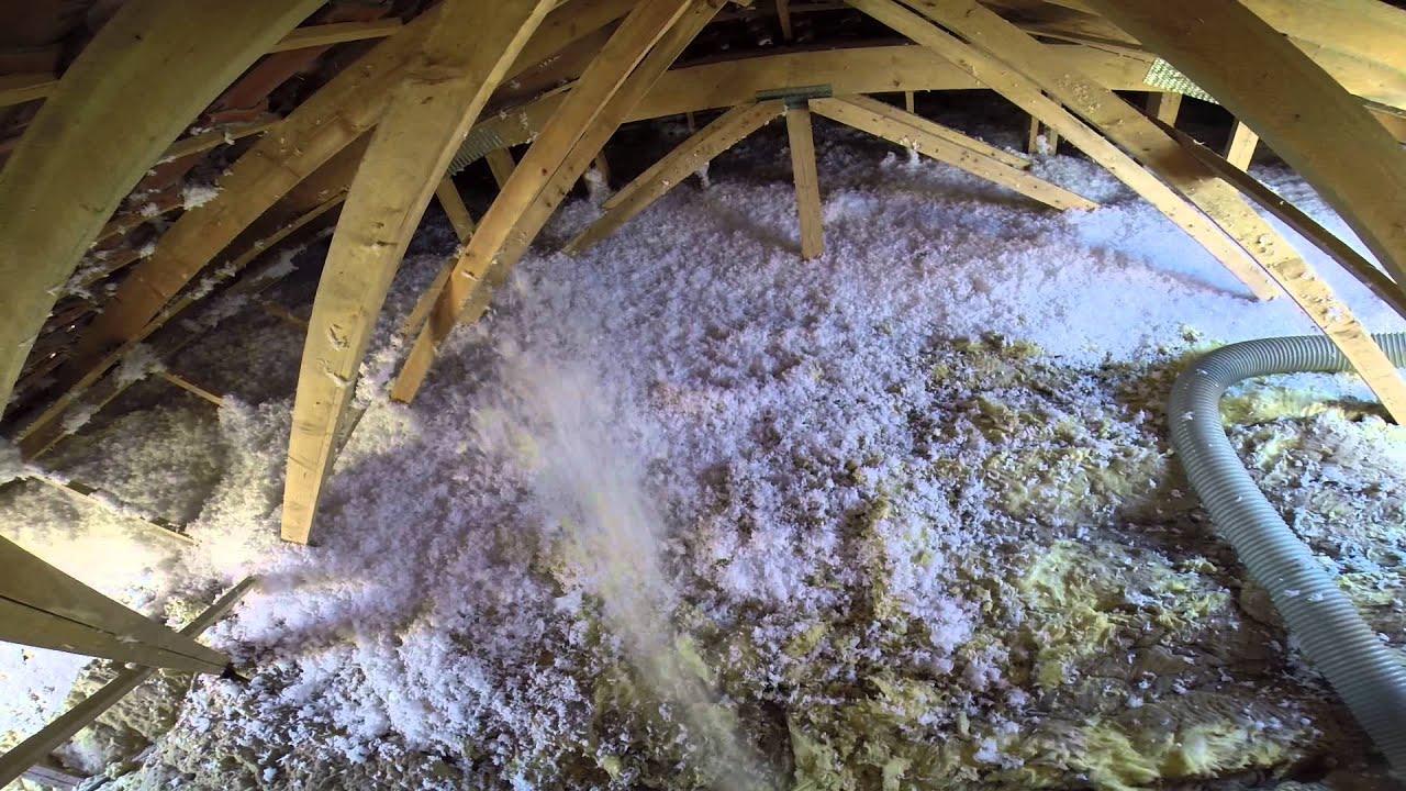 Soufflage laine de verre comblissimo youtube for Laine de verre comblissimo