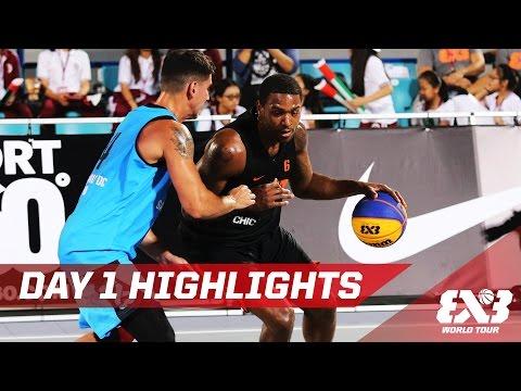 Day 1 Highlights - Abu Dhabi Final - 2016 FIBA 3x3 World Tour
