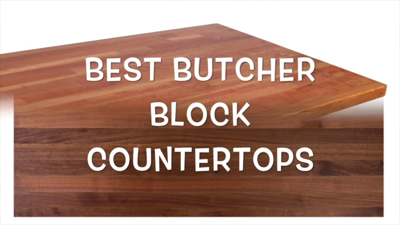 butcher block island top - YouTube