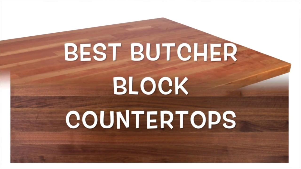 butcher block island top - YouTube