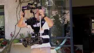 Combination of 3 axis brushless gimbal and a steadicam