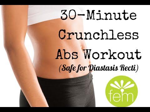 30-min Crunchless Abs (safe for diastasis recti!)