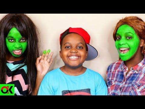 GREEN FACE!  Shiloh and Shasha  Onyx Kids