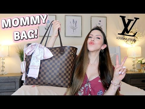 WHAT'S IN MY MOMMY BAG!? Louis Vuitton Neverfull