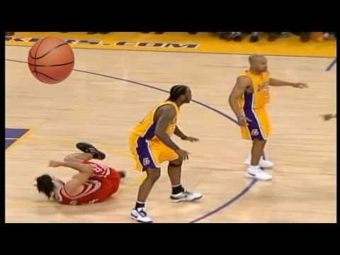Derek Fisher Hard Foul On Luis Scola In Game 2 Rockets Vs. Lakers