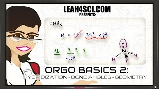 sp3 Hybridization and Bond Angles in Organic Chemistry Basics 2