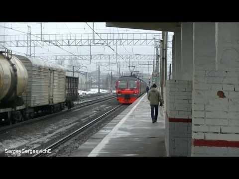 Электропоезд ЭД4М-0165 станция Люберцы-2