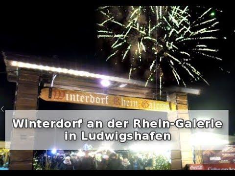 Winterdorf An Der Rhein Galerie In Ludwigshafen Youtube