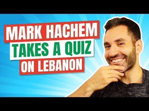 Mark Hachem Takes A Quiz On Lebanon